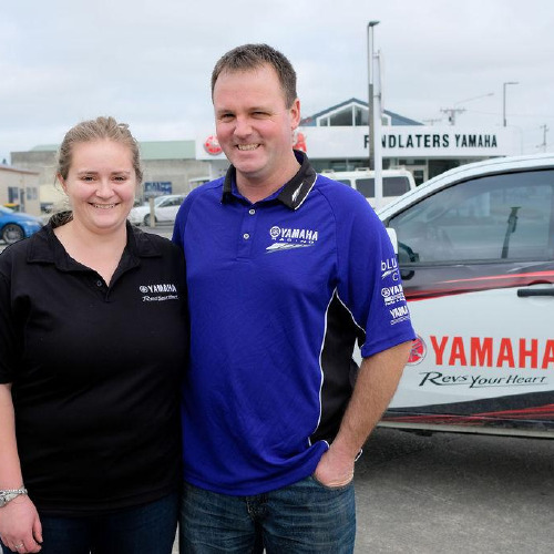 Jordan and Alistair owners at Findlaters Yamaha